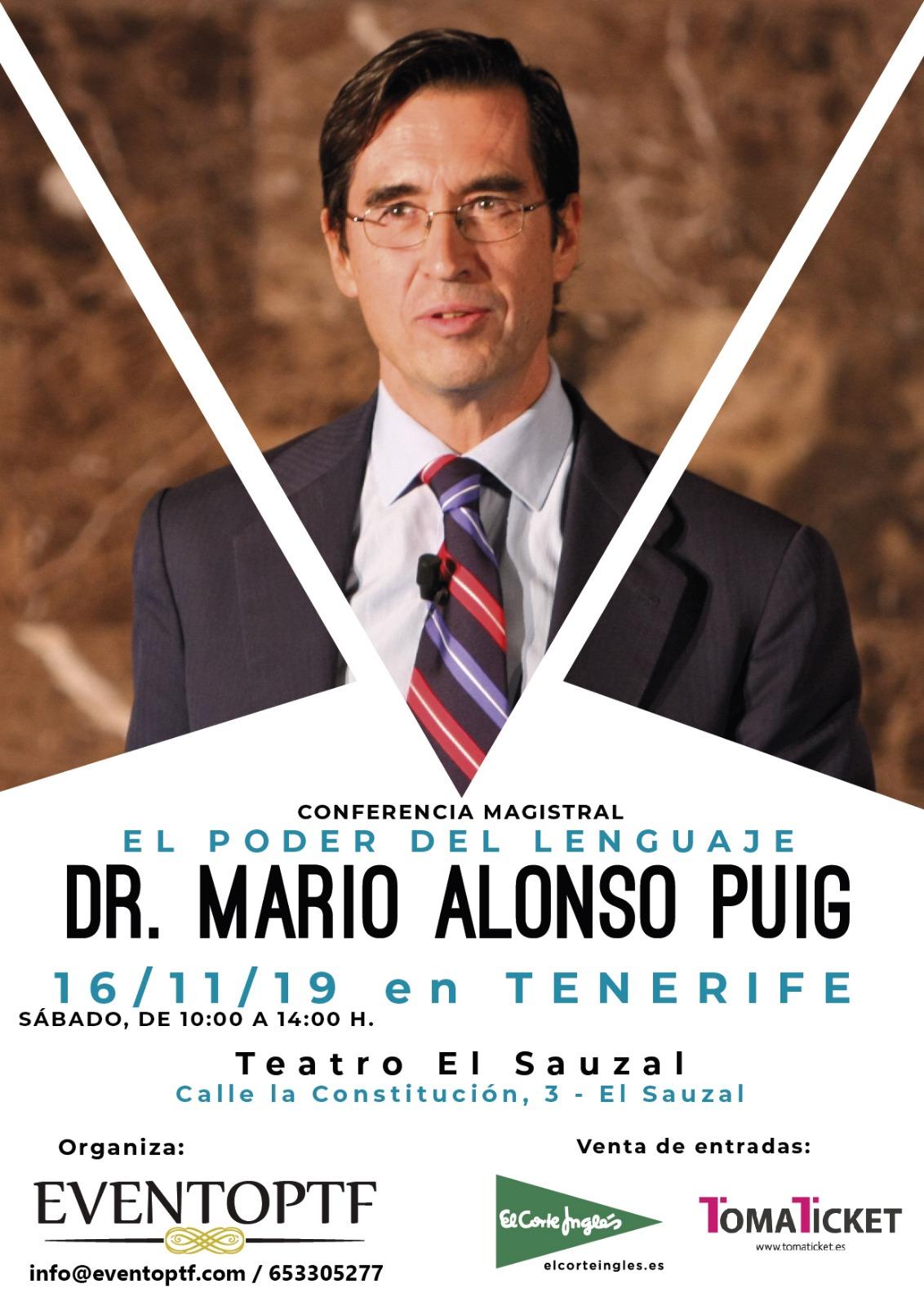 MARIO ALOPNSO PUGI conferencia tenerife