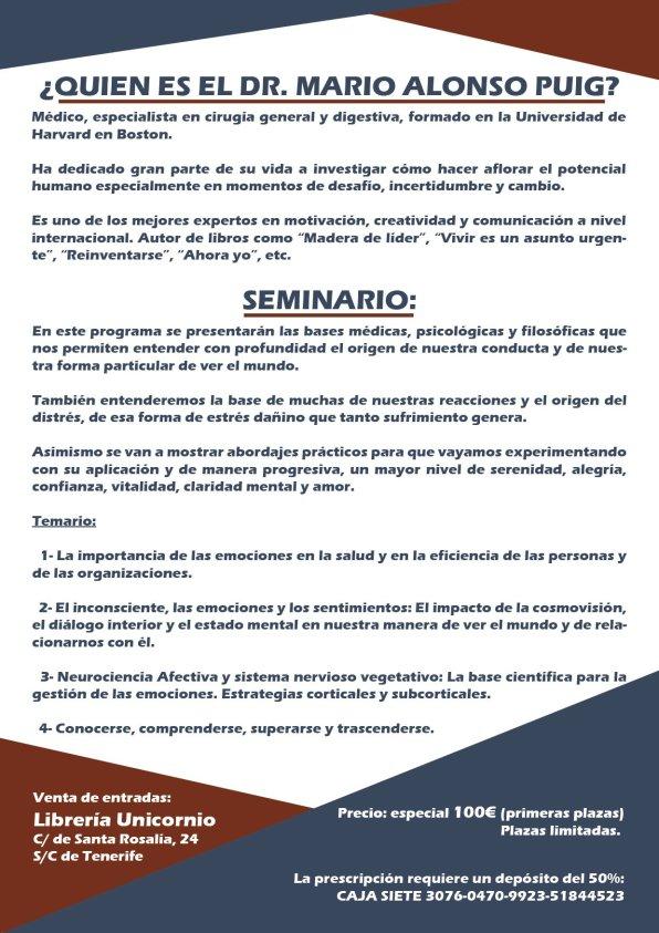Seminario Dr Mario Alonso Puig Canarias 2