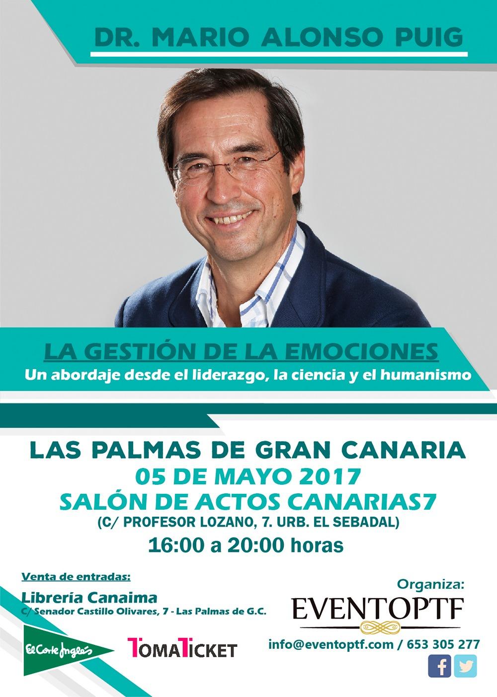 El Dr Mario Alonso Puig Llega A Gran Canaria El Próximo 5
