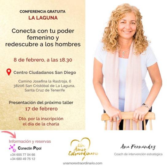conferencia conecta con tu poder femenino ana fernandez
